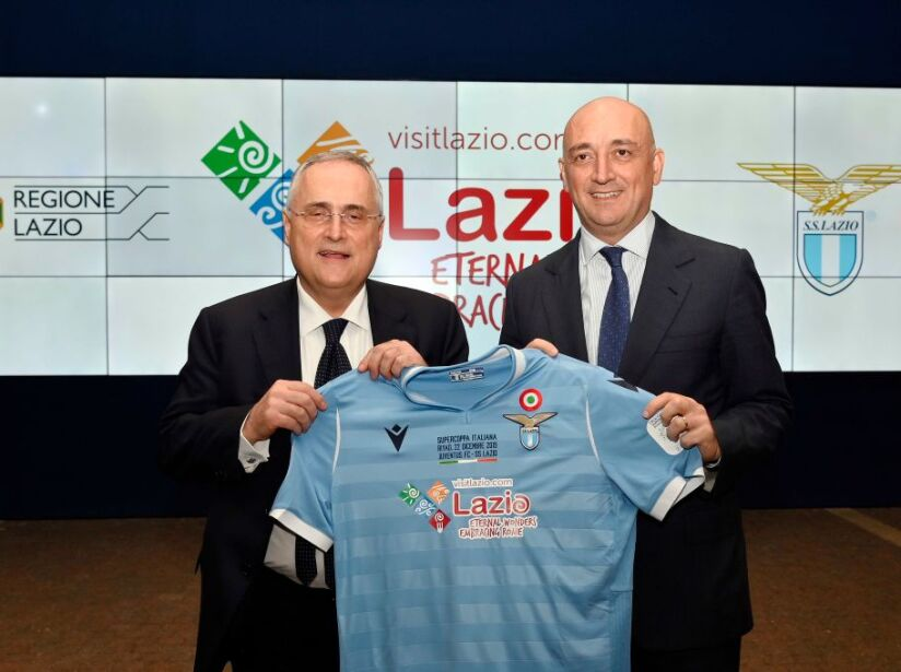 SS Lazio Unveils New Kit For The Italian Supercup