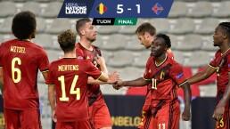 Bélgica se da un festín en la Nations League