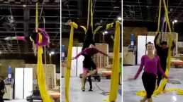 Angelique Boyer revive su talento para la danza aérea (VIDEO)