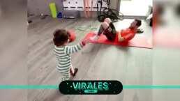Messi realiza tierno entrenamiento con su hijo
