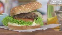 Por si buscas una opción vegetariana, prueba estas hamburguesas de frijoles negros