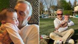 Tras la cirugía de su bebita, Gianluca Vacchi aparece junto a ella y enternece al cantarle al oído