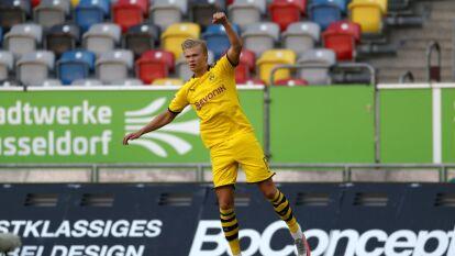 Haaland apareció para darle la victoria al Dortmund | En la jornada 31 de la Bundesliga, Dusseldorf cayó por la mínima ante Dortmund y peligra su permanencia en la Primera División.