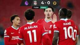 Wolves homenajea a Jiménez y sufre derrota ante Liverpool