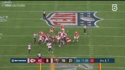 ¡Chiefs acorta distancia! Harrison Butker pone el marcador 9-21