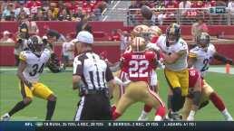 ¡Interceptado por Steelers! Apenas en la primera serie ofensiva de 49ers