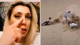 Cynthia Klitbo muestra el 'porrazo' que se dio tras practicar skateboarding: Tengo un moretón