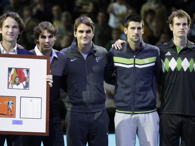 Carlos Moya, Rafael Nadal, Roger Federer, Novak Djokovic, Andy Murray