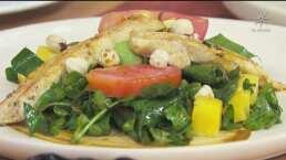 RECETA: Ensalada de pollo con vinagreta de chile pasilla
