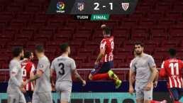 Llorente y Luis Suárez elevan al Atlético de Madrid