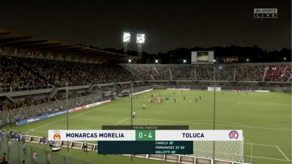 En el debut entre Monarcas Morelia y los Diablos Rojos de Toluca, el conjunto escarlata e impuso de forma contundente con doblete de Leo Fernández (22' y 60'), Canelo (28') y Gigliotti (80').