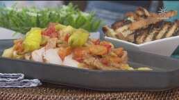 RECETA: Lomo de cerdo acaramelado en salsa de naranja