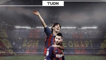 Messi marcó su primer gol oficial como jugador profesional del Barcelona un 1 de mayo del 2005 durante un partido de Liga por la jornada 34 entre Barça-Albacete en el Camp Nou.