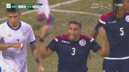 César García evita el gol del empate de El Salvador