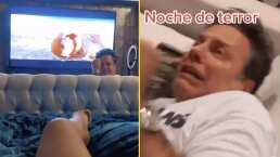 Fernanda López asustó a Alexis Ayala mientras veían una peli de terror
