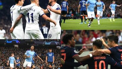 Resumen J3 UEFA Champions League: Manchester City 5-1 Atalanta. Tottenham 5-0 Estrella Roja. Olympiacos 2-3 Bayern.