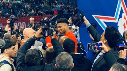 Las estrellas de la NBA comparten impresiones con la prensa previo al All Star Game 2020.
