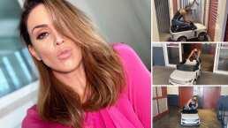 'Ya lo choqué todo': Jacky Bracamontes se aventura a pasear en el mini coche de su hija Renata
