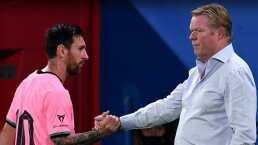 Ronald Koeman no tiene queja de Messi y lo ve feliz