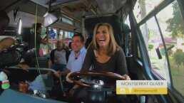 Montserrat Oliver se convirtió en chófer de un camión de ruta y se divirtió dando 'frenones'