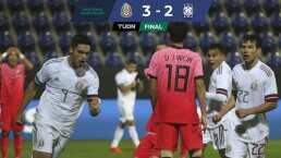 México derrota 3-2 a Corea en un partido lleno de fallas ofensivas