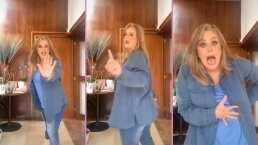 """""""Yo perreo sola"""": Erika Buenfil se anima a realizar atrevido baile pero algo se interpone en su camino"""