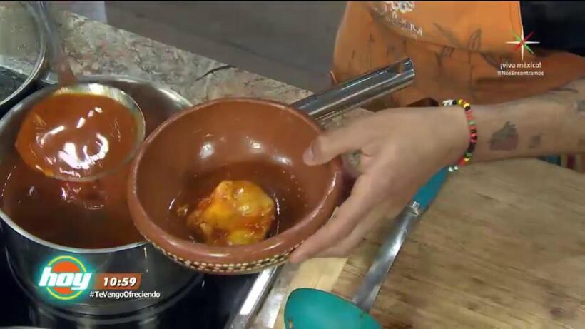 Cocina Huevos ahogados con nopales