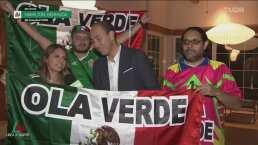 Aficionados mexicanos le dieron la bienvenida al Tri en Bermudas