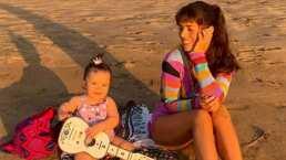 Además del mandarín, Claudia Álvarez también lleva a clases de música a su hija y se dan tremenda divertida