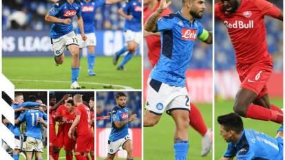 Napoli 1-1 Salzburg. Los napolitanos son segundos con ocho puntos, Salzburg tiene cuatro en el Grupo E.