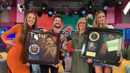 ¡Gran sorpresa!: Camilo recibe su primer disco de platino en 'Cuéntamelo ya!'