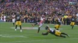 Intercepción de Steelers que mata las esperanzas de los Browns