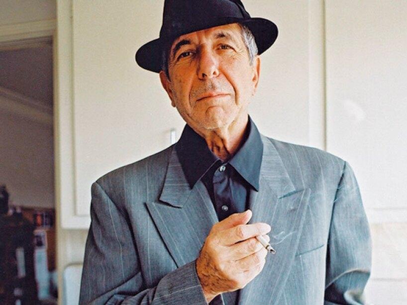 El poeta, novelista y cantautor Leonard Cohen.