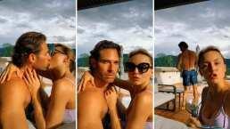 Video: Sebastián Rulli y Angelique Boyer se dan apasionado beso de telenovela y AMLO 'dice' que los acusará