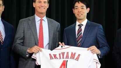 El jardinero es el primer japonés en jugar con los Cincinnati Reds. Firmó por tres años y 21 millones de dólares.