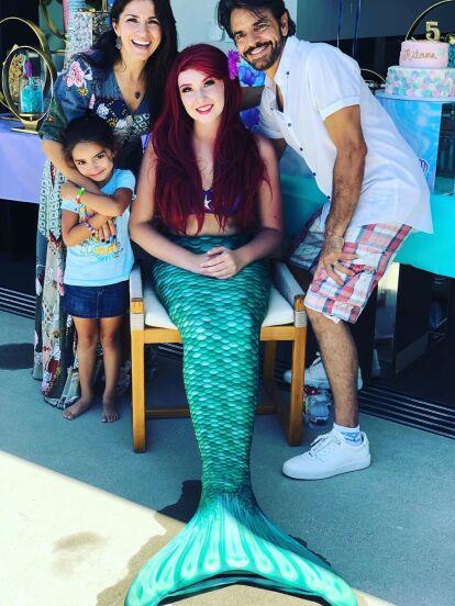 Aitana, hija de Eugenio Derbez y Alessandra Rosaldo, cumplió 5 años, razón por la que sus padres le organizaron una fiesta al estilo de 'La Sirenita'