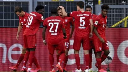 Con un golazo de Joshua Kimmich el Bayern München se llevó el Clásico 0-1 en casa del Dortmund y se enfila hacia el título del futbol alemán.