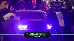 Abordan y ovacionan a Julio Urías cuando circulaba en su auto