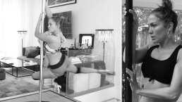 J. Lo demuestra sus mejores pasos en el pole dance