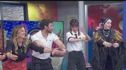 Natalia Téllez se reencuentra con excompañeros de Hoy y realizan divertido baile