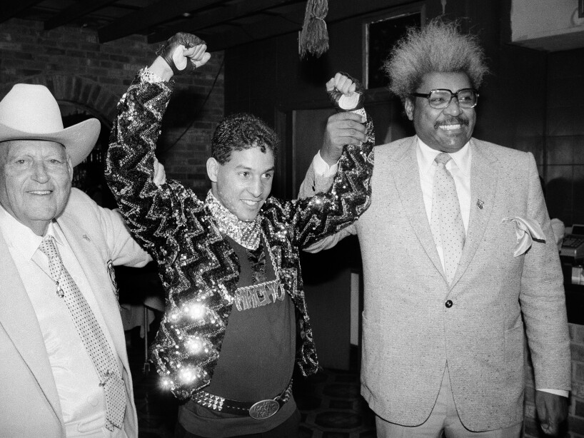 "Hector ""Macho"" Camacho, Marty Cohen, Don King"