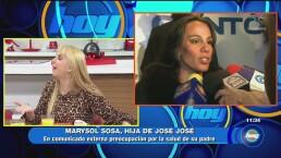 Hija de José José, preocupada por su padre