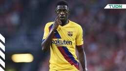 Dembelé, suspendido con dos partidos, no jugará ante el Madrid