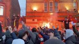 Anfield es un auténtico infierno previo al juego ante Atlético de Madrid