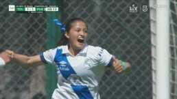 ¡Parecía que no entraba! Ibeth López marca la igualada 1-1 del Puebla