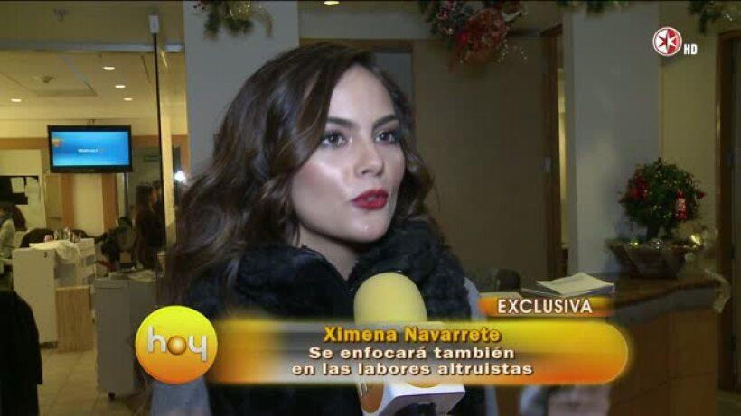 Ximena Navarrete aclara rumores