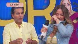 """Te extraño mi Chabelita"": A Andrea Legarreta se le quiebra la voz al cantarle a su mamá"
