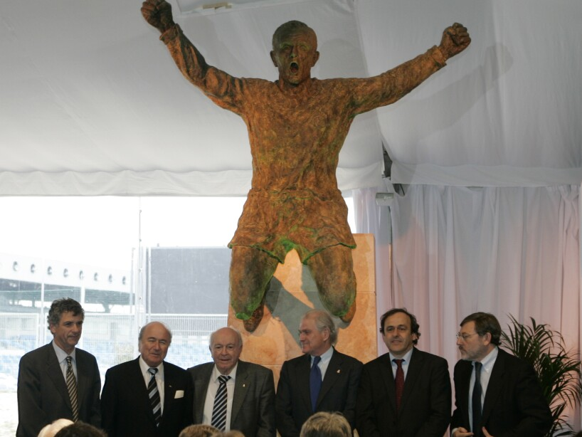 Angel Villar, Josep Blatter, Alfredo Di Stedano,Ramon Calderon, Michel Planini, Jaime Lissavetzky.