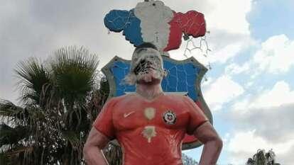 La estatua tuvo un costo de 3 millones de pesos chilenos.