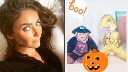 Los tiernos disfraces de Emiliano y Manuelito para celebrar Halloween